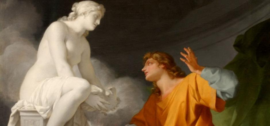 estatua de Pigmalión y Galatea