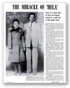 fotografía de Henrietta Lacks y su marido en un periodico