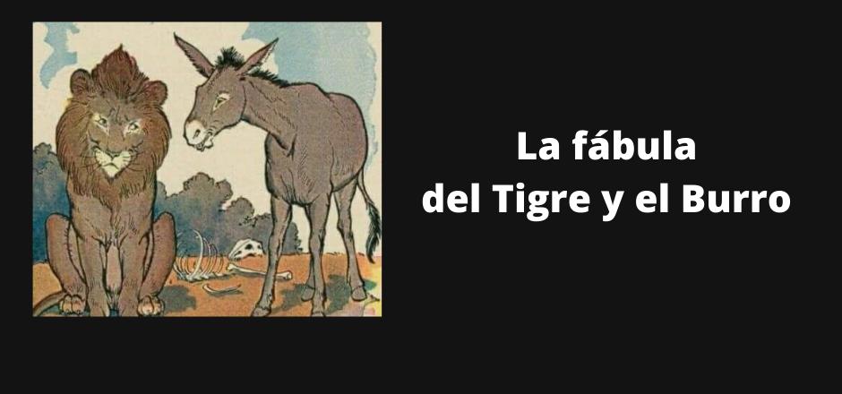 dibulo de un tigre y un burro hablando