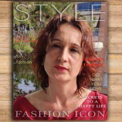 Foto de mujer atractiva en portada revista